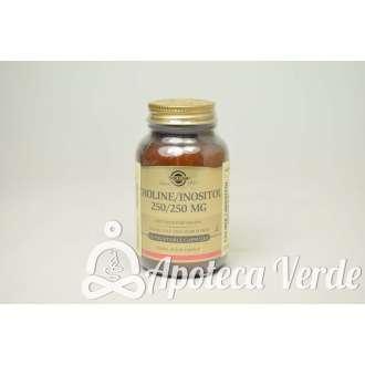 Colina / Inositol 250 / 250 mg Cápsulas vegetales de Solgar
