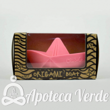 Oli and Carol Barco Origami Juguete Baño Mordedor Rosa