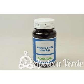 Vitamina E-400 Complejo de Bonusan 60 cápsulas