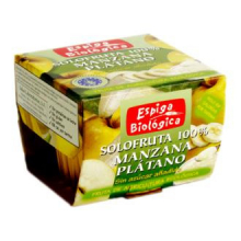 Espiga Biológica Solofruta Compota Manzana Platano Eco 2ud
