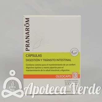 Cápsulas Oleocaps 3 Digestión y Tránsito Intestinal de Pranarom 30 cápsulas