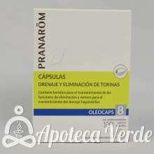 Cápsulas Oleocaps 8 Drenaje y Eliminación de toxinas de Pranarom 30 cápsulas