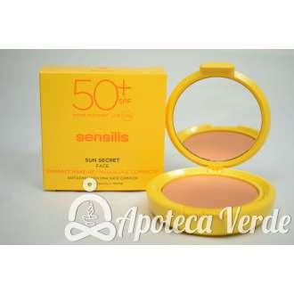 Maquillaje compacto Sun Secret SPF50+ Golden de Sensilis 10g