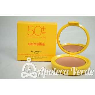 Maquillaje compacto Sun Secret SPF50+ Bronce de Sensilis 10g