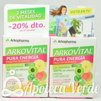 Pack Ahorro de Arkovital Multivitaminico Pura Energía de Arkopharma 30 comprimidos