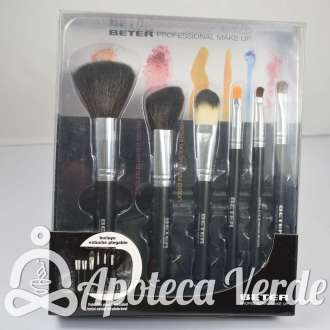 Kit completo con 6 brochas Professional Make up de Beter
