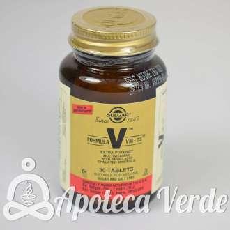 Fórmula VM 75 de Solgar 30 comprimidos