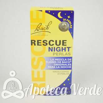 Perlas Rescue Night Flores de Bach Originales Remedio Rescate 28 perlas