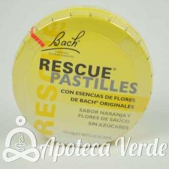 Pastillas Rescue Remedy Flores de Bach Originales Remedio de Rescate Naranja Flor de Saúco