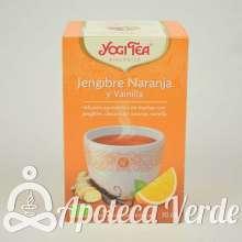 Infusión Bio Jengibre Naranja y Vainilla Yogi Tea 17 bolsitas