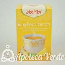 Infusión Bio Jengibre y Limón Yogi Tea 17 bolsitas