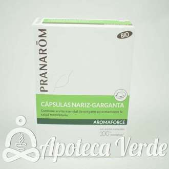 Aromaforce Cápsulas Nariz Garganta Bio Pranarom 30 cápsulas