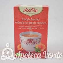 Infusión Bio Energía Positiva Arándanos Rojos Hibisco Yogi Tea 17 bolsitas
