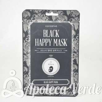 Kocostar Mascarilla Negra Facial Feliz Carbón Vegetal
