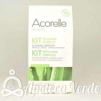 Kit completo de depilación con bandas de cera fría de Acorelle