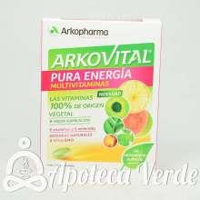 Arkovital Multivitaminico Pura Energía de Arkopharma 30 comprimidos