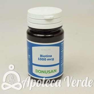 Biotina 1000 mcg de Bonusan 60 tabletas