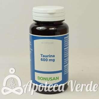 Taurina 600 mg de Bonusan 60 cápsulas
