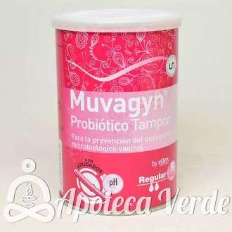 Muvagyn Tampón Probiótico Vaginal Regular de Casen Recordati 9 unidades