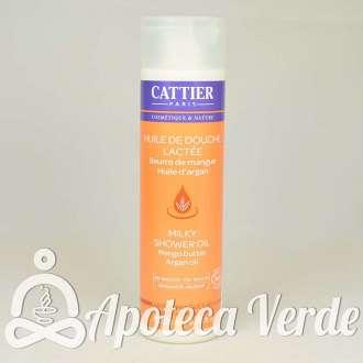 Aceite de ducha lechoso Bio con manteca de Mango y aceite de Argán de Cattier 200 ml