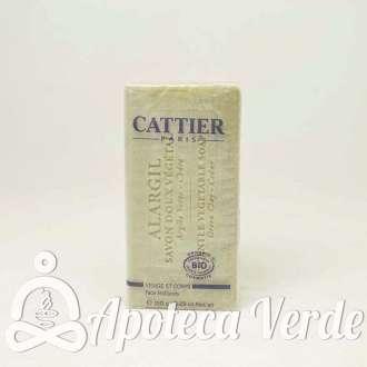 Jabón Vegetal de Arcilla Alargil para cara y cuerpo de Cattier 150g