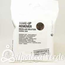 Toallitas desmaquillantes para pieles normales de Comodynes 20 unidades