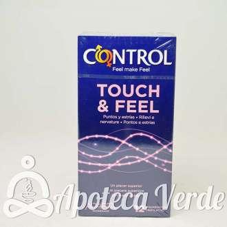 Preservativos Touch & Feel de Control 12 unidades