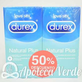 Duplo de Preservativos Natural Plus de Durex 12 unidades