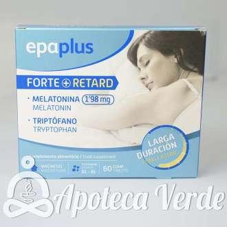 Melatonina Forte+ Retard 1,98 mg y Triptófano de Epaplus 60 comprimidos