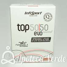 Top 50/50 Evo Leucina+ de Infisport 1kg