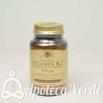 Vitamina K2 100 μg de Solgar 50 cápsulas vegetales