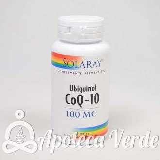 CoQ10 Ubiquinol 100mg de Solaray 30 cápsulas