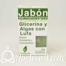Jabón Dermatológico Glicerina y Algas con Lufa de Sanasur 100g