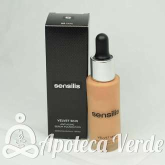 Velvet Skin Maquillaje Antiedad en Serum 05 Café de Sensilis 30 ml