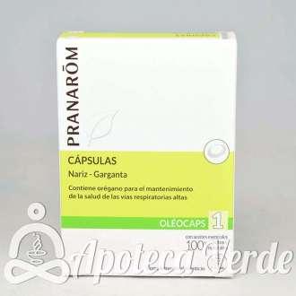 Oleocápsulas 1 Nariz-Garganta de Pranarom 30 cápsulas