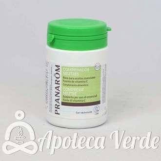 Comprimidos neutros Bio base para aceites esenciales de Pranarom 30 comprimidos