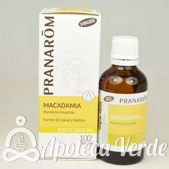 Aceite vegetal de Macadamia Bio de Pranarom 50ml