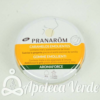 Pranarom Aromaforce Caramelos Emolientes Bio Miel Limón
