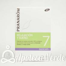 Pranarom Oleocaps Plus 7 Relajación y Sueño Bio