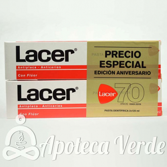 Lacer Pasta Dental con Flúor 2x125ml