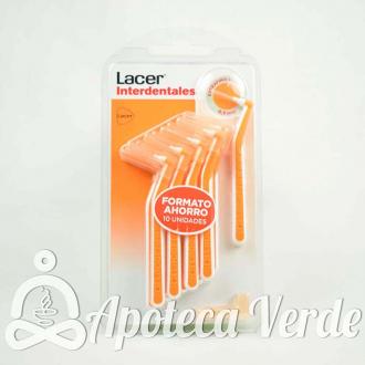 Lacer Cepillos Interdentales Angulares Naranja Extrafino Suave 0,5 mm 10 unidades