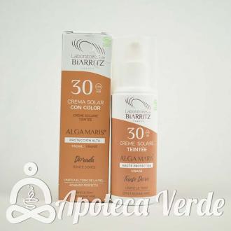 Crema solar facial con color SPF30 Alga Maris 50ml Golden