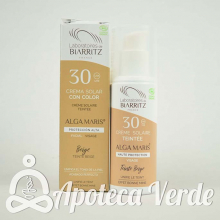 Crema solar facial con color SPF30 Alga Maris 50ml Golden