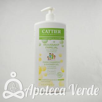 Gel de baño Cabello y cuerpo. Lactoserum y Agua de aciano de Cattier 1L