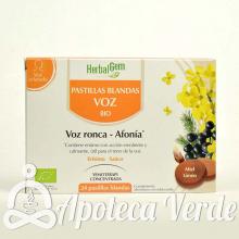 Herbalgem Pastillas Voz Ronca Afonía Bio