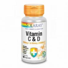 Solaray Vitamina C 1000Mg Vitamina D 2000UI 60 cap