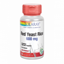 Solaray Red Yeast Rice Levadura Roja De Arroz 45 cap