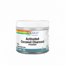 Solaray Charcoal Coconut Activated Carbon Activo 150gr