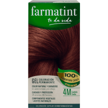 Farmatint Gel Coloración permanente 4M Castaño Caoba 135ml