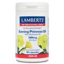 Lamberts Aceite de Primula Onagra Extra Alta Potencia con Borraja 90 cap